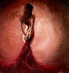 Pensieve lady in red by Lianne-Issa