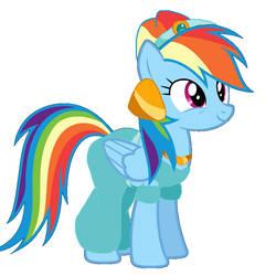 Rainbow Dash As Jasmine by evergreen2024