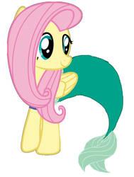 Fluttershy as Ariel by evergreen2024