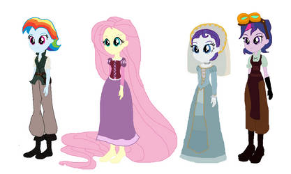 Mlp Tangled Cast by evergreen2024