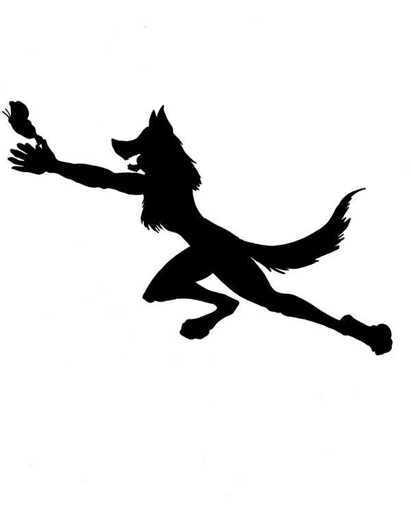 Werewolf silhouette by Rikku123