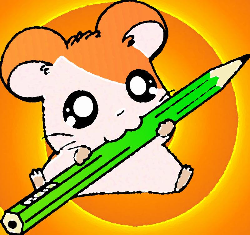 Cute hamster drawings