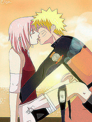 Sakura And Naruto by hamsterfangirl