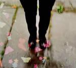 butterflies under my feet