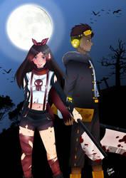 Commission: Zombie Apocalypse by shiori887