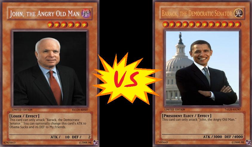 obama vs mccain yugioh cards by hitokage195 on deviantart