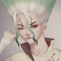 Dr Stone - Senku by Luhuala