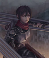 Mikasa Ackerman by Luhuala