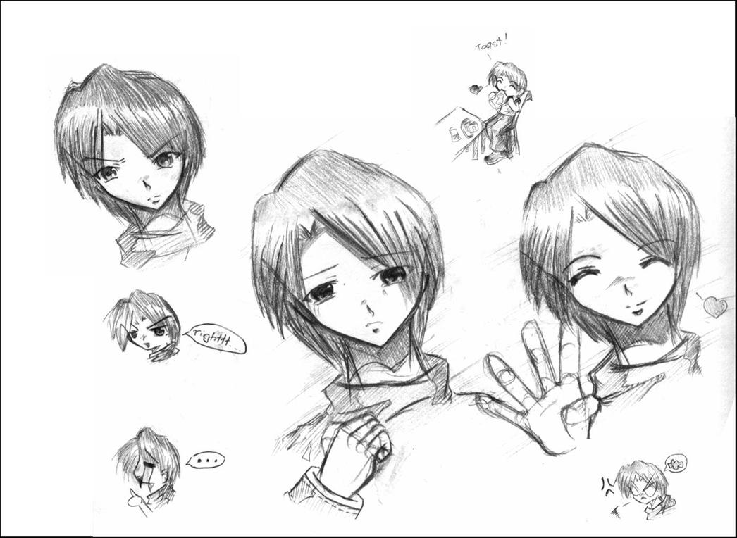 Character Design Expression : Character design expression by firebornfallenangel on
