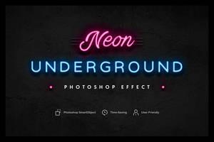 Neon Underground Photoshop Effect by Lyova12