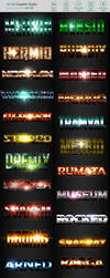 50 3D Text Effects - Bundle Vol. 01 by Lyova12