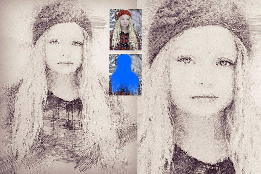 Pencil sketch photoshop action by lyova12