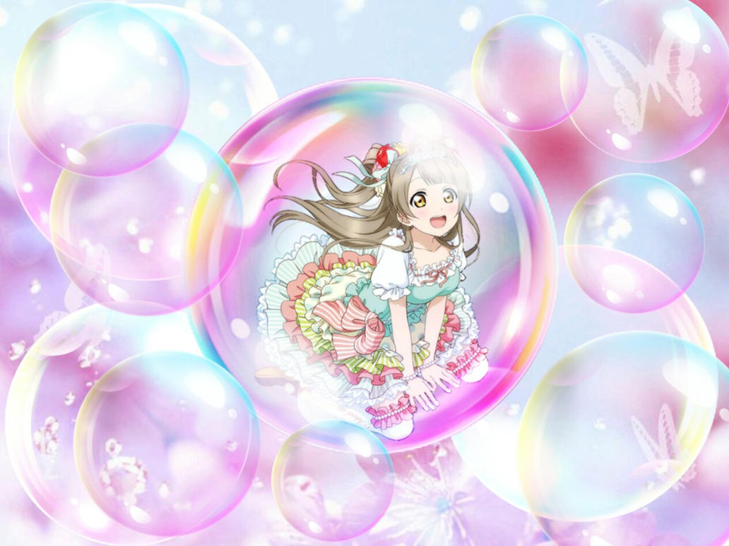 Bubble Floating in the pink sky Minami kotori by sunnyDg