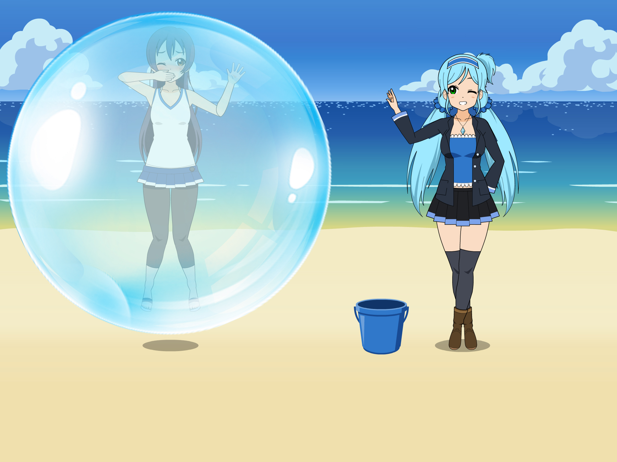 Inside water Bubble trapped by Elise by sunnyDg