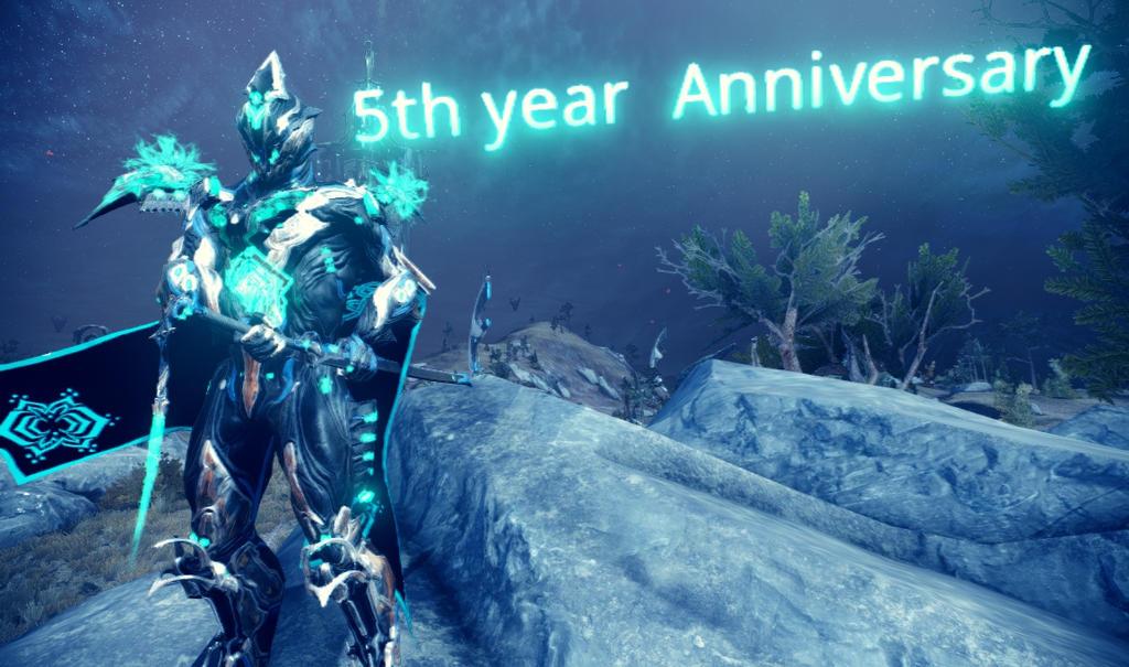 5th year Anniversary of Warframe by sunnyDg