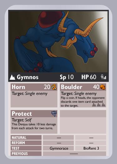 KDTTCG - Gymnos Phone Card by RacieB