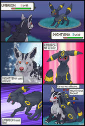 Mightyena vs Umbreon redux by RacieB