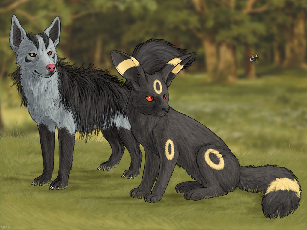 Realistic Poochyena Umbreon and Mig...