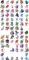 Telefang 1 Sprite Revamp Project by RacieB