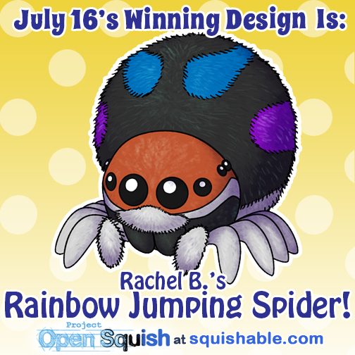 Winners Jumpingspider Rachelb by RacieB