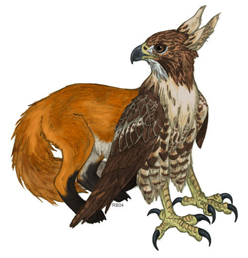 Red gryphox by racieb on deviantart - Animales mitologicos grifo ...