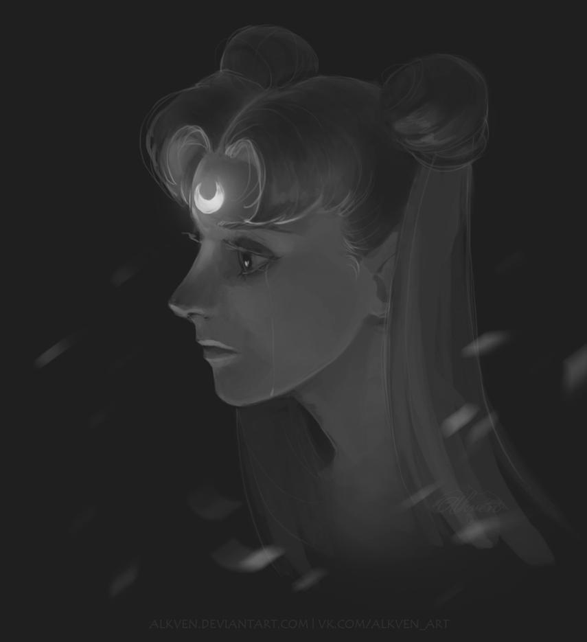 Sailormoon sketch by Alkven