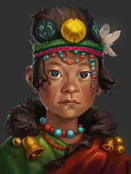 2017-09-01 Little shaman by Alkven
