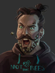 2017-09-04 Bee-bearded hipster by Alkven