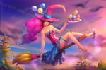 Halloween pinup witch Pinkie Pie 2019