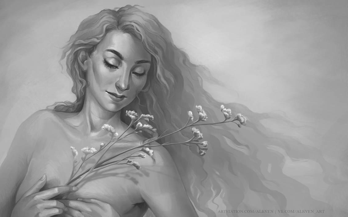 2019-02-10 Limonium girl by Alkven