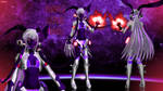 MMD model - Kuroyu Purple Lepus Haku [DOWNLOAD]