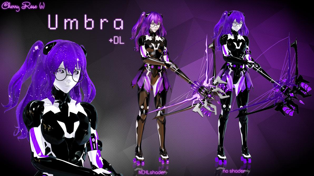 MMD model - Kuroyu-styled Umbra (DL) by CherryRoseC