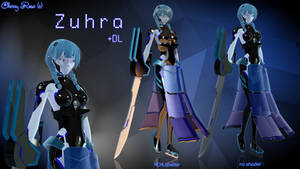 MMD model - Kuroyu-styled Zuhra (DL)