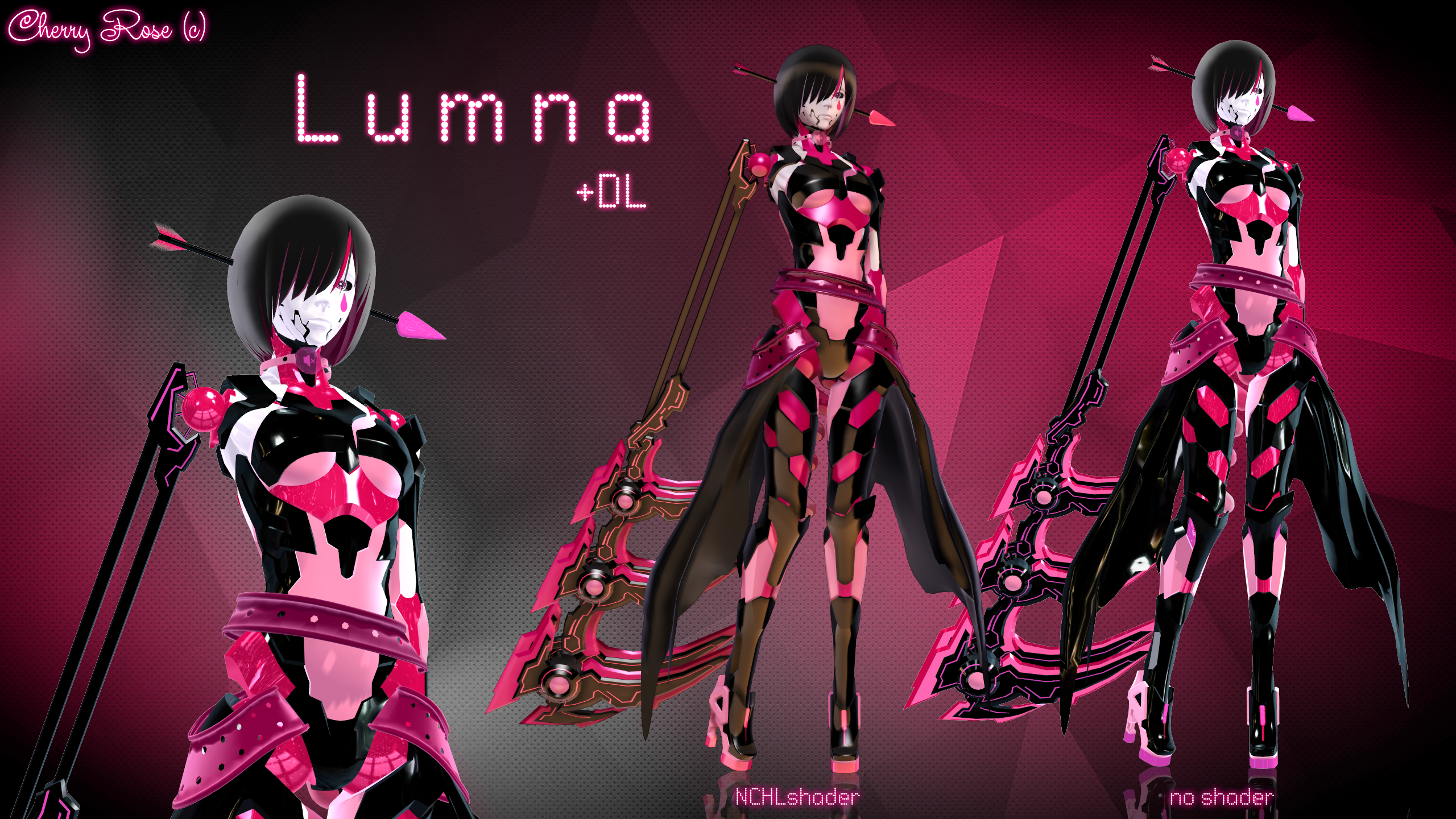 MMD model - Kuroyu-styled Lumna (DL) by CherryRoseC
