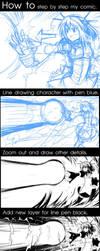 How to drawing in my comic by peeknokboorapa-go-it