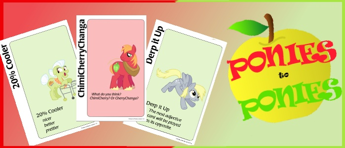 Ponies to Ponies (Ponified Apples to Apples!) by ScribbleQuill