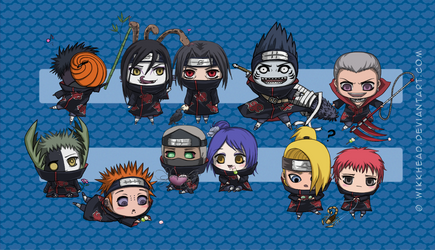 Merrymaking with the Akatsuki by wikkhead