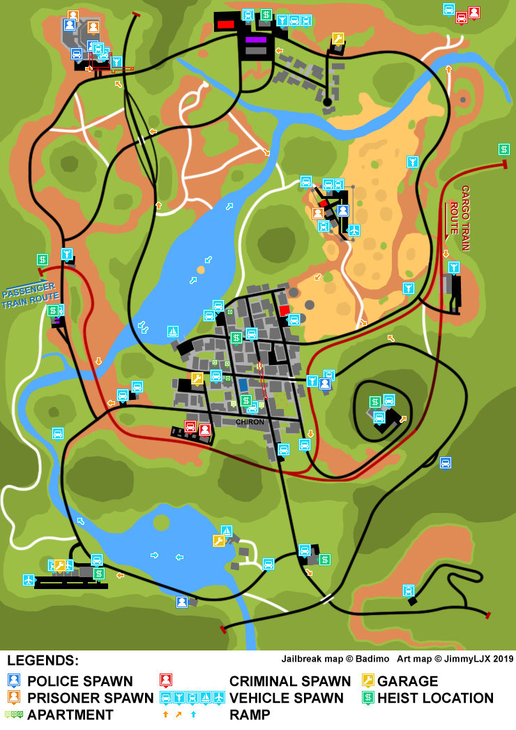 Roblox Jailbreak Map Legacy By Jimmyljx On Deviantart