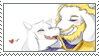 [Game Stamp] Toriel x Asgore by FakeTsuki