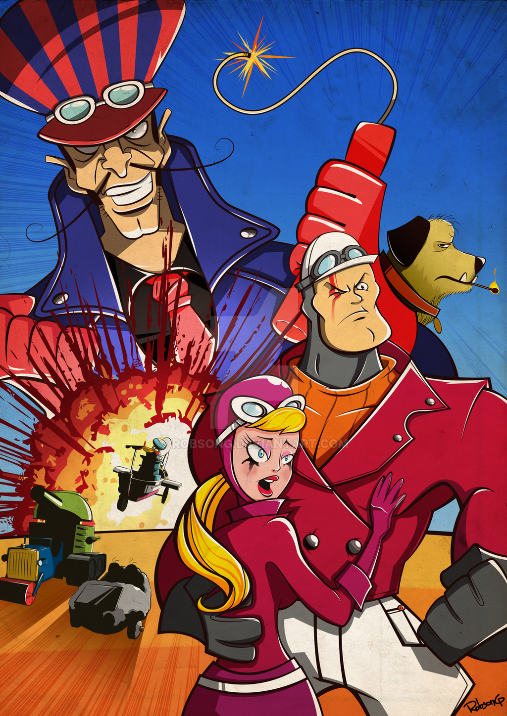 Wacky races tribute by robsong on deviantart for Wacky wallpaper