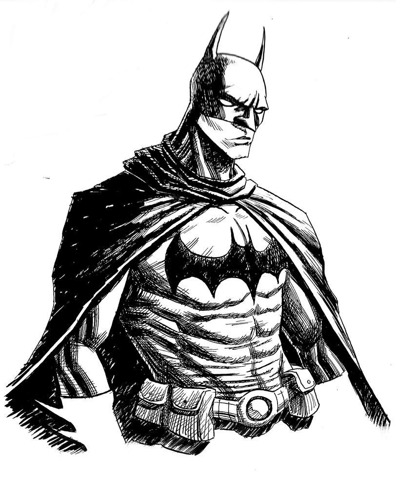 Batman Sketch By Hellspawnsteo On DeviantArt