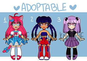 Adoptables -OPEN- CUTE GIRLS 5 by Kamylove