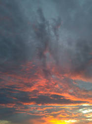 Grenada Sunset colors in the sky
