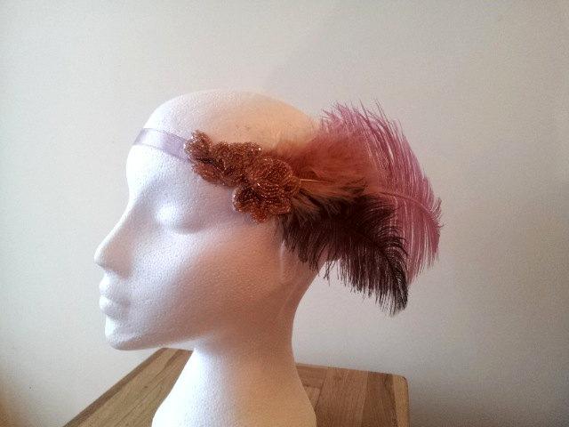 English Beauty Flapper Headdress by paradiseshoretwins