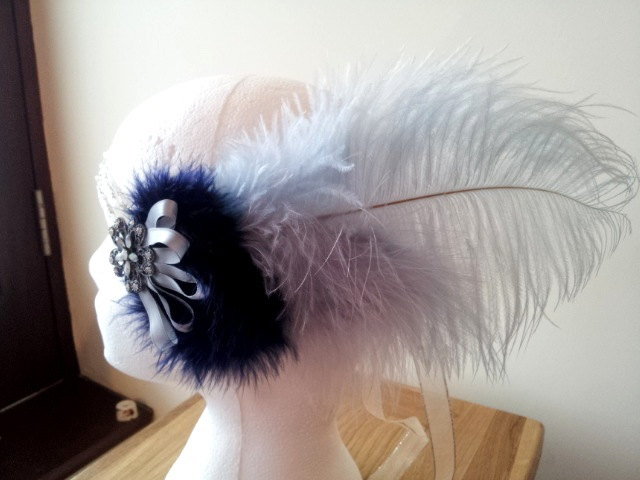Moonshine Flapper Headdress by paradiseshoretwins