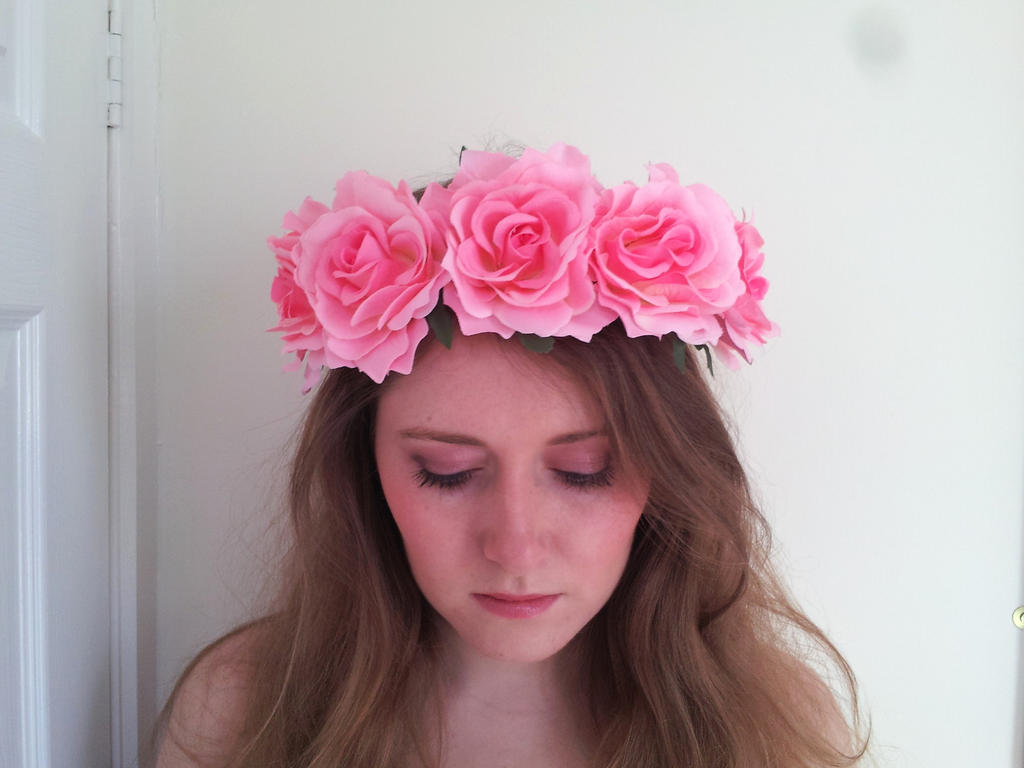 Pink flower crown transparent comousar pink flower crown transparent izmirmasajfo