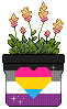 Panromantic Asexual Pixel Pot by Turtledragon2001