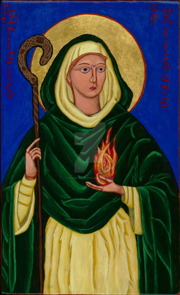 St. Brigid Icon by angelboi-red