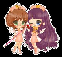 CCS Sakura and Tomoyo by floradore
