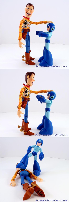 Woody Vs Megaman by AnimatorAR